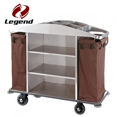 Multi function hotel housekeeping cart,Hotel Housekeeping Cart Laundry Trolley with Canvas Bag,Hotel Restaurant Supply,Housekeeping Carts & Hospitality Carts,Popular hotel cleaning trolley