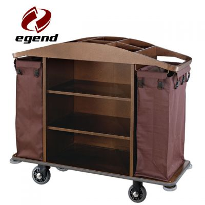 Multi function hotel housekeeping cart,2 durable bags stainless steel housekeeping trolley,Hotel Restaurant Supply,Linen Carts Stainless Steel,Multi-purpose Hotel Housekeeping Maid Cart Trolley,Wholesale Housekeeping trolley