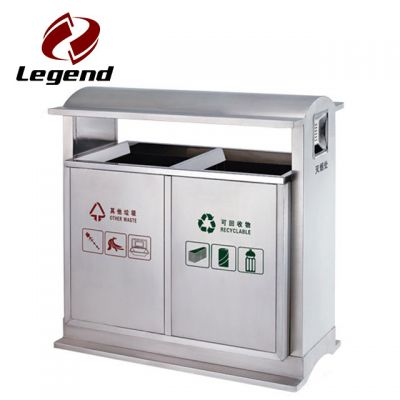 Eco Friendly Trash Can,Recycling outdoor bin,Stainless Steel Trash Bin