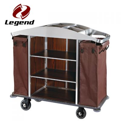 Hotel Housekeeping Cart Laundry Trolley with Canvas Bag,Hotel Housekeeping Trolley Maid Cart,Housekeeping Supplies,Housekeeping carts for guestrooms,Wholesale Housekeeping trolley