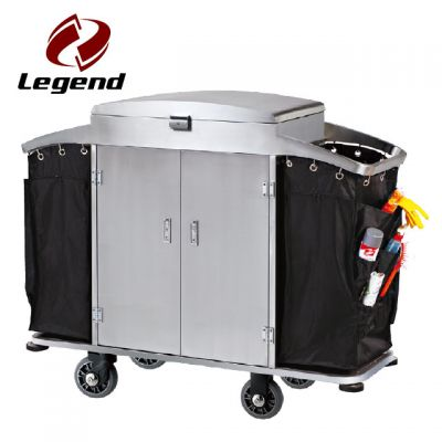 Multi function hotel housekeeping cart,Popular hotel cleaning trolley,Equipment Housekeeping Carts,Hotel Restaurant Supply,Maid & Linen Laundry Housekeeping Carts,Multi purpose hotel housekeeping trolley
