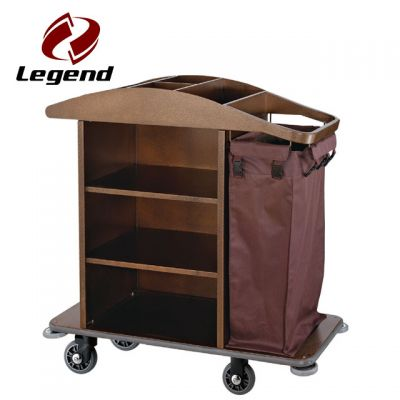 Housekeeping Maid,Linen Carts Stainless Steel,Multi-purpose Hotel Housekeeping Maid Cart Trolley