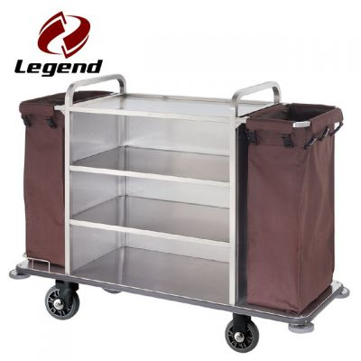 Hotel Housekeeping Trolley Maid Cart,Housekeeping carts for guestrooms,Multi-purpose Hotel Housekeeping Maid Cart Trolley,Wholesale Housekeeping trolley