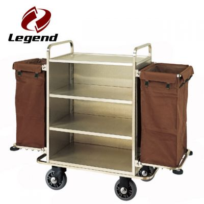 Hotel Housekeeping Trolley Maid Cart,Housekeeping Supplies,Linen Carts Stainless Steel