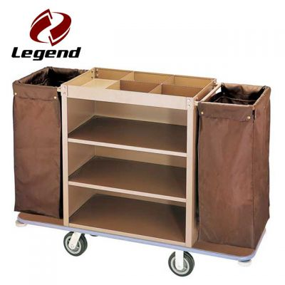 Metal Housekeeping Carts,Multi-purpose Hotel Housekeeping Maid Cart Trolley,Powered Housekeeping Cart