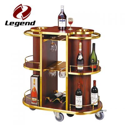 Liquor Service Trolley,Wooden Serving Trolley